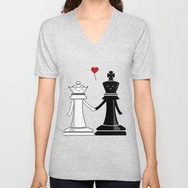 Chess love #3 Unisex V-Neck