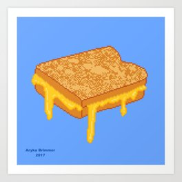 Grilled Cheese Art Print