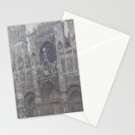 The Cathedral in Rouen. The portal, Grey Weather Stationery Cards