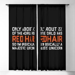 Red Hair Funny Quote Blackout Curtain