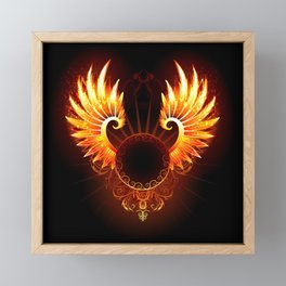 Wings Phoenix Framed Mini Art Print