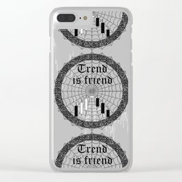 Trend is friend Clear iPhone Case