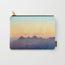 Sunrays hitting the mountains Carry-All Pouch