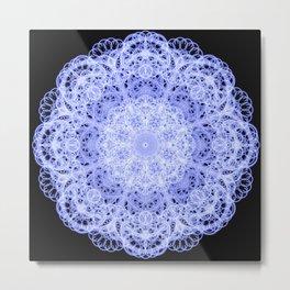 Fine Lace Mandala Metal Print