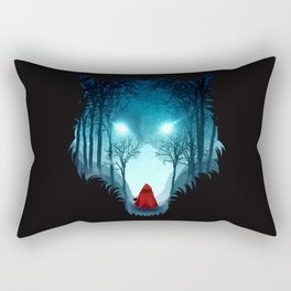 Big Bad Wolf (dark version) Rectangular Pillow