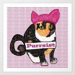 Purrsist Kitty Art Print