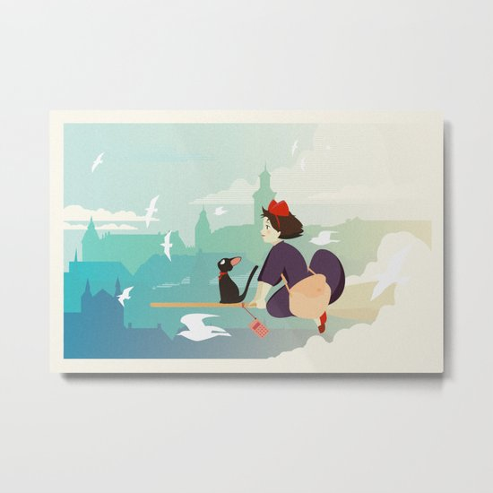 Delivery Service Metal Print