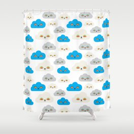 Rainbow Power Clouds Shower Curtain