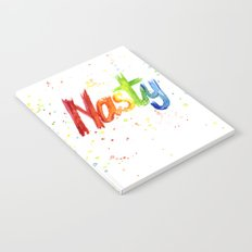 Nasty Woman Rainbow Watercolor Text Notebook