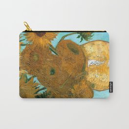 Vincent van Gogh - Still Life Vase with Twelve Sunflowers Carry-All Pouch