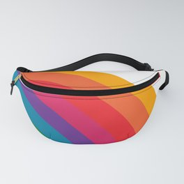 Retro Bright Rainbow - Right Side Fanny Pack