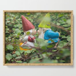 First Kiss - Garden Gnome Serving Tray