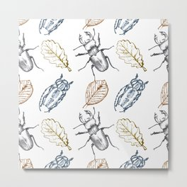 Bugs and leaves Metal Print