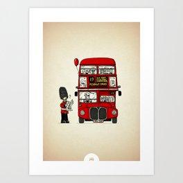 Lost in London Art Print