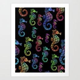 Sea Horse Color Art Print