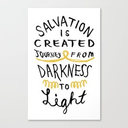 Salvation is Created Canvas Print