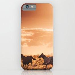 wild horse in australia iPhone Case