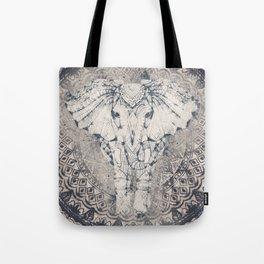 Indian Elephant Mandala Tote Bag