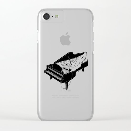 Turn on the music, Turn off your mind Clear iPhone Case