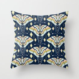 La Maison des Papillons - Midnight Throw Pillow