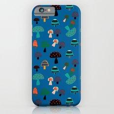 Cute Mushroom Blue iPhone 6s Slim Case