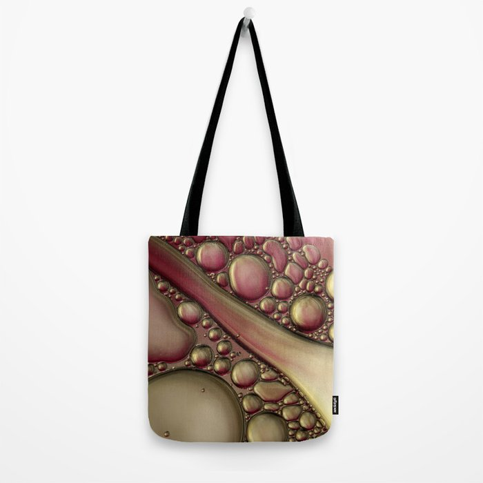 Rubies & Gold Bubble Abstract Tote Bag