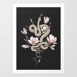 Magnolia and Serpent Art Print