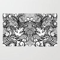 cheshire cat Area & Throw Rugs featuring cheshire cat by vasodelirium