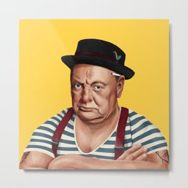 Hipstory -  Winston Churchill Metal Print