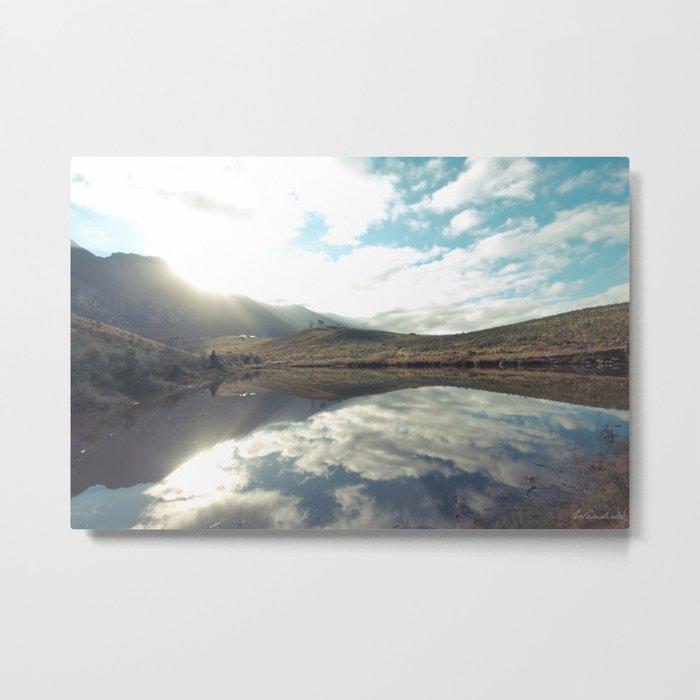 Sunny afternoon at a lake Metal Print