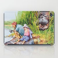 hippo iPad Cases featuring hippo! by Rose Rigden