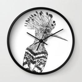 Hoopoe drawing Wall Clock