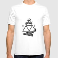 The Legend of Zelda - Triforce White MEDIUM Mens Fitted Tee