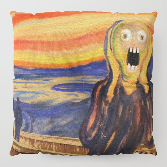 The Screamer - Really Freaked Out Floor Pillow