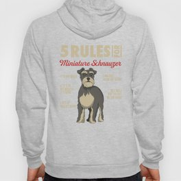 Funny Rules for Miniature Schnauzer Hoody