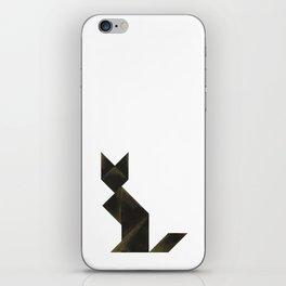 Tangram Black Cat iPhone Skin