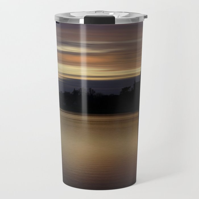 Lichfield Cathedral Sunset Reflection Travel Mug