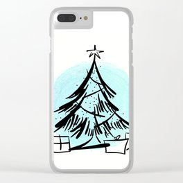 Holiday Greetings Clear iPhone Case