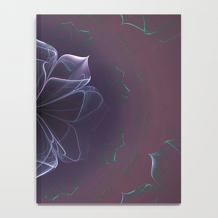 Amethyst Ornate Blossom in Soft Pink Notebook