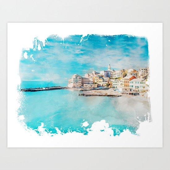 Sea coast Art Print