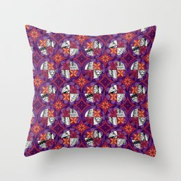 Laguna - Raspberry - Gothic Pasifika Throw Pillow
