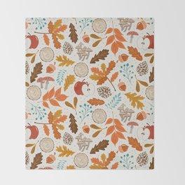 Autumn Woods Throw Blanket
