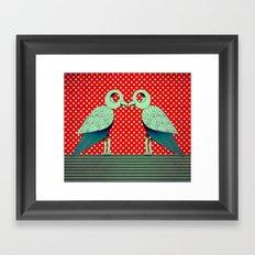 parrot dot ! Framed Art Print