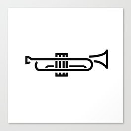 Stylized Trumpet Canvas Print