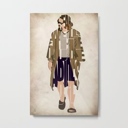 The Big Lebowski Inspired The Dude Typography Artwork Metal Print
