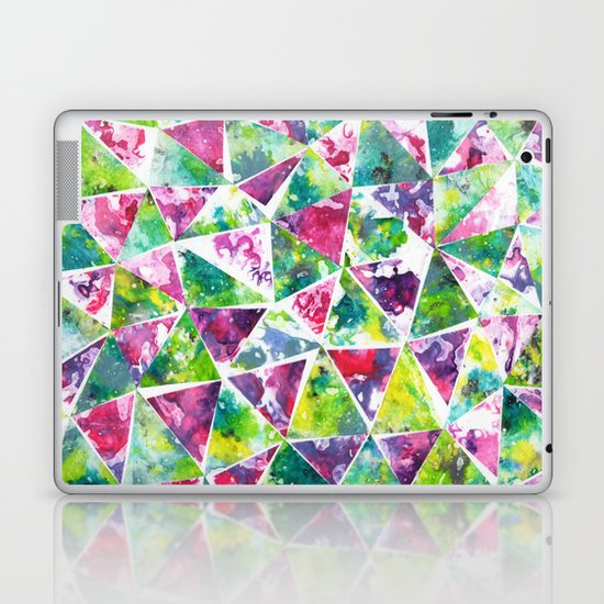 COLLAGE LOVE: Funky Triangles Laptop & iPad Skin