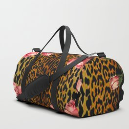 Leopard and Roses Duffle Bag