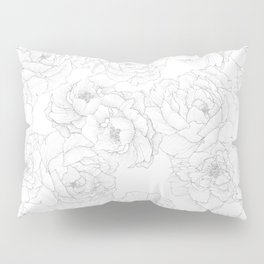 Peony Flower Pattern Pillow Sham