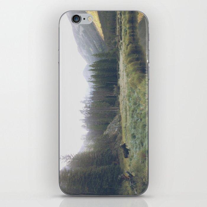Morning Meadow Moose iPhone Skin