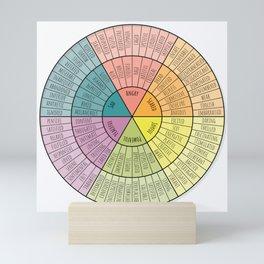 Feelings Wheel - Bright Mini Art Print